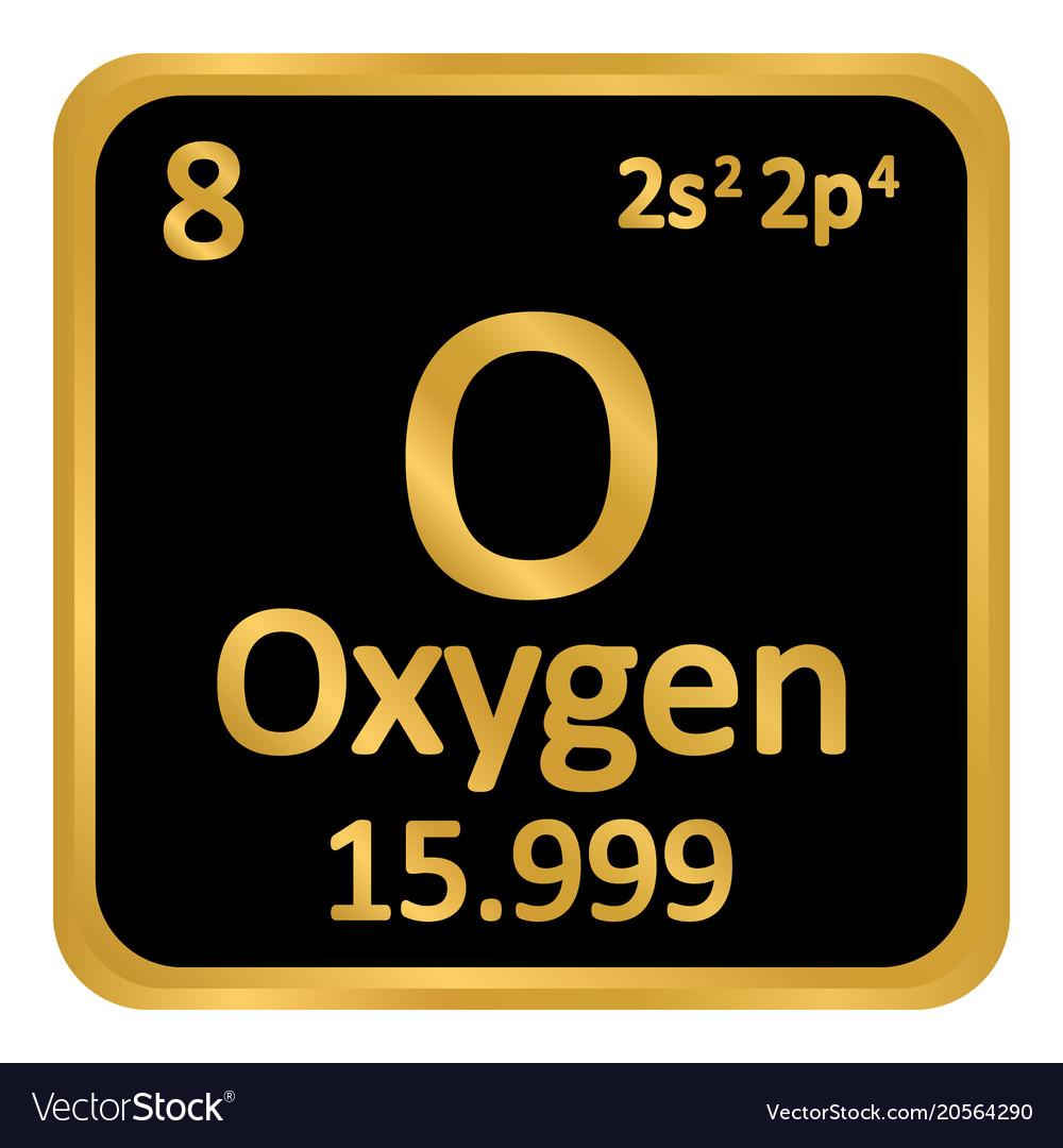 Periodic table element oxygen icon royalty free vector image periodic table element oxygen icon vector image urtaz Gallery