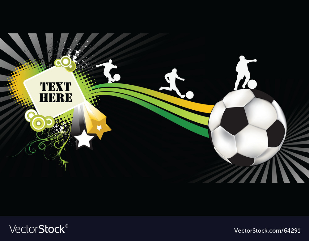 Soccer black vector image