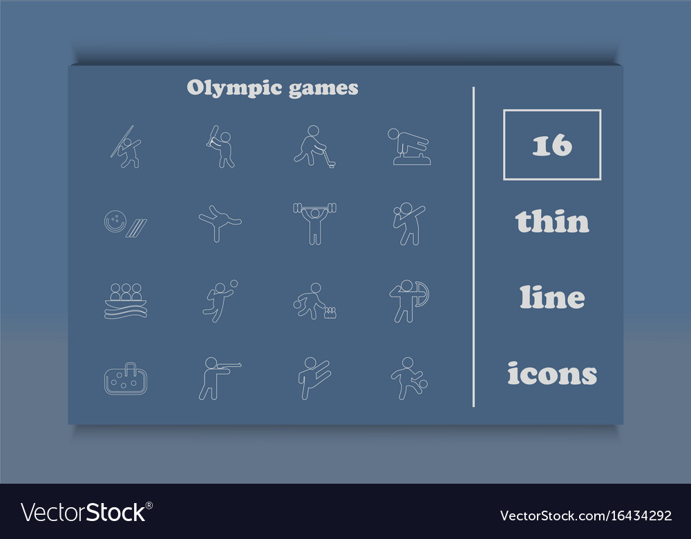 Set of olympic summer games icons