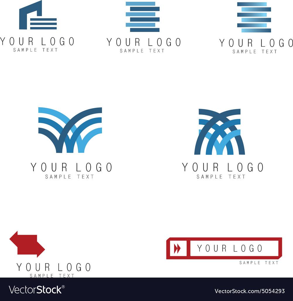 Print logo set vector image