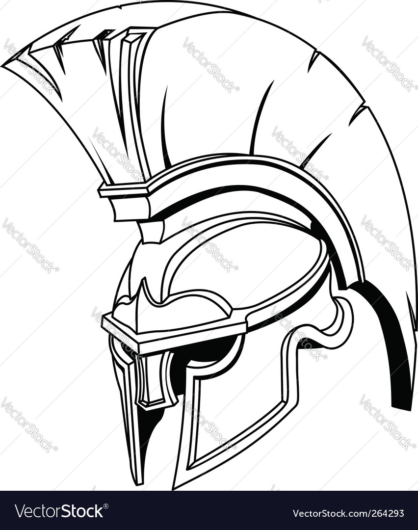 Roman gladiator helmet vector image