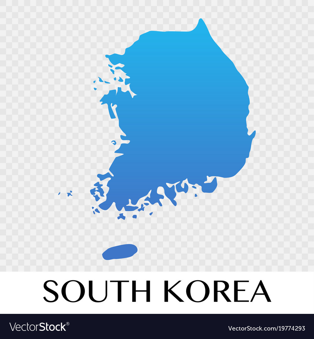 South korea map in asia continent design Vector Image