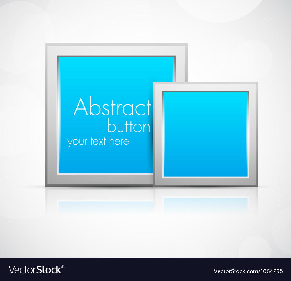 Background with two squares vector image