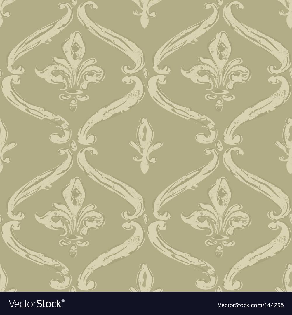 Seamless fleur de lys pattern Vector Image