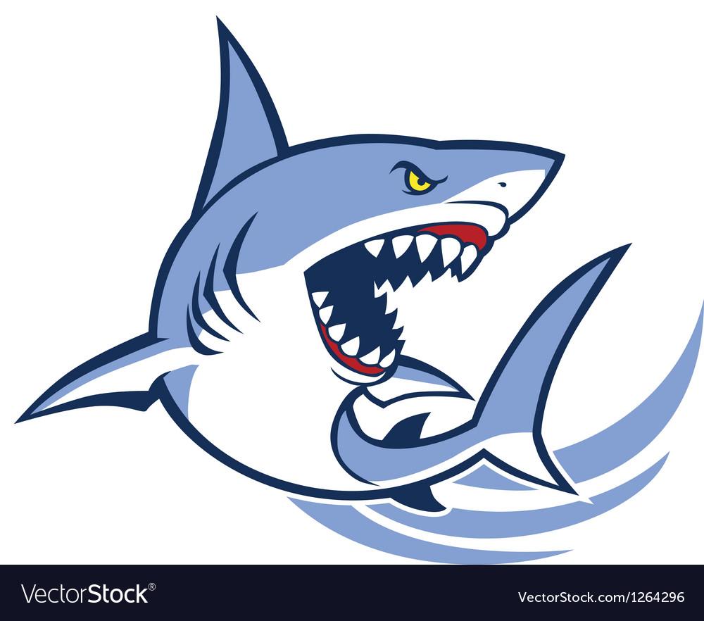 Shark mascot vector image