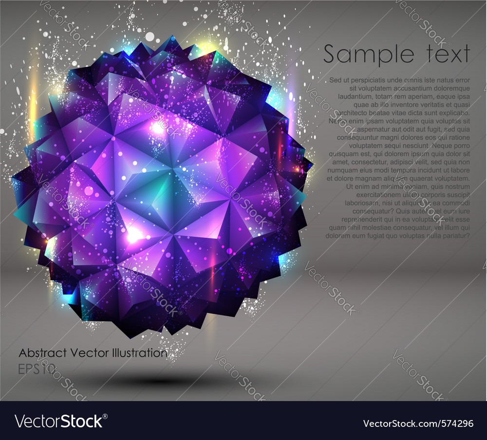 Abstract geometric ball background vector image