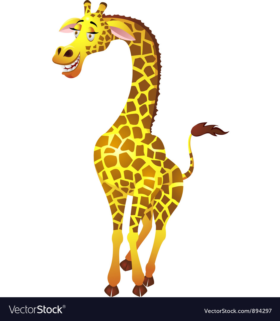 giraffe cartoon royalty free vector image vectorstock