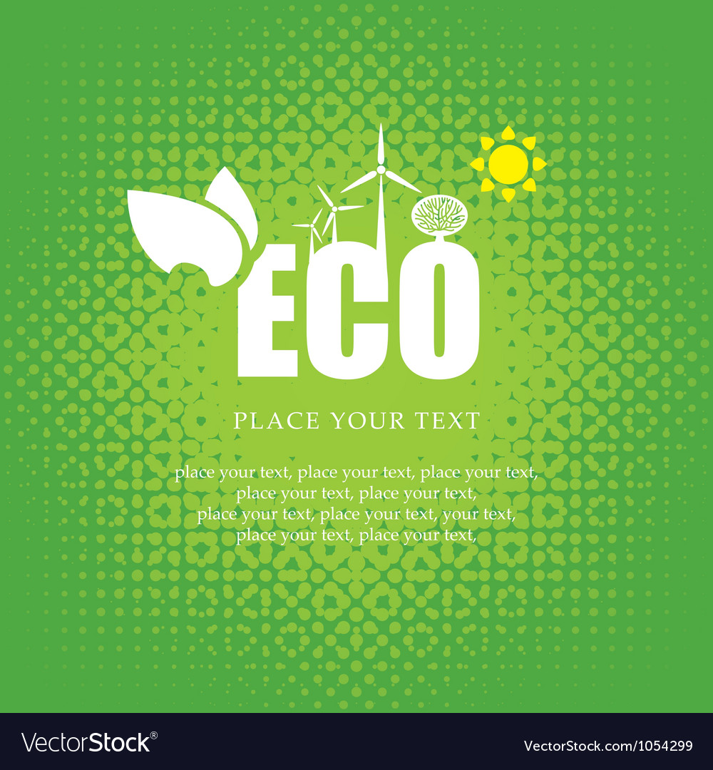 Ecosystem vector image