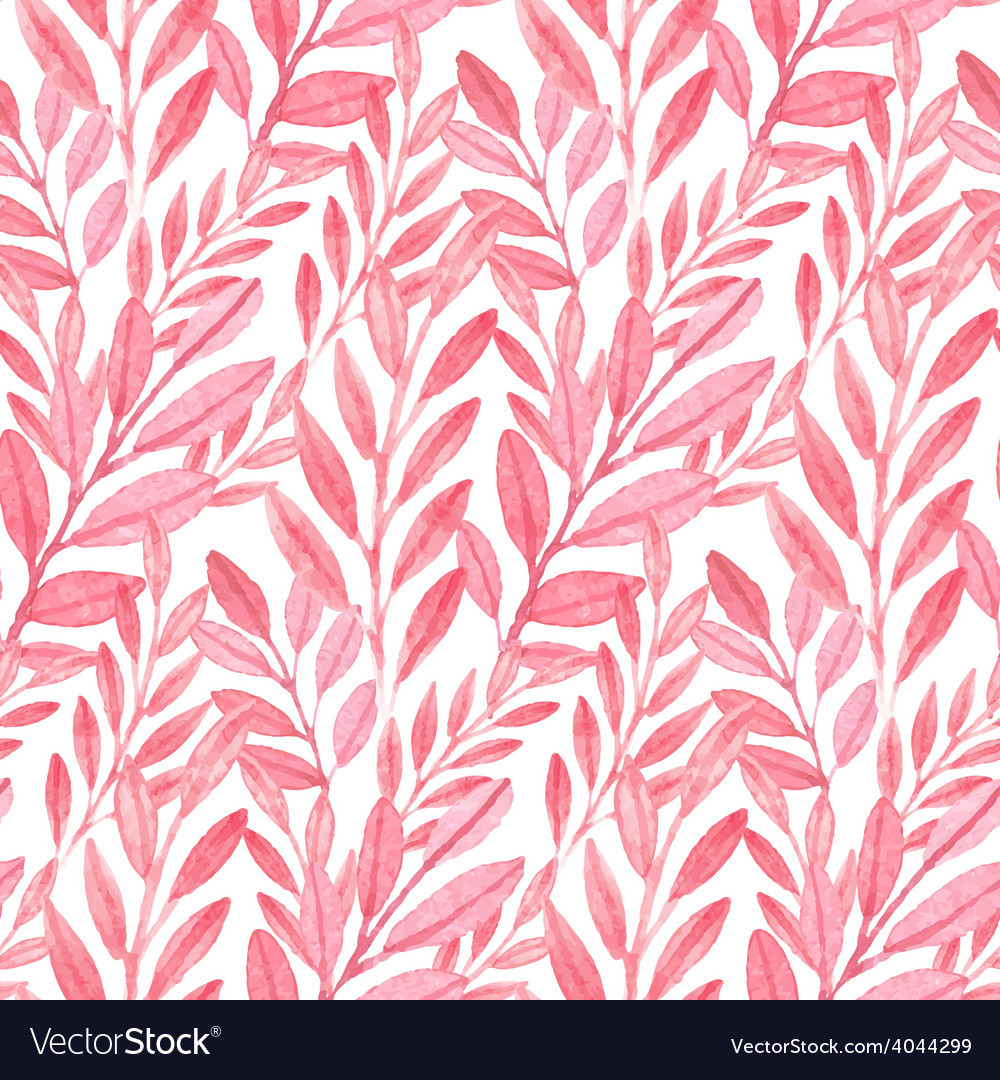 Seamless Pink pattern of leaves vector image