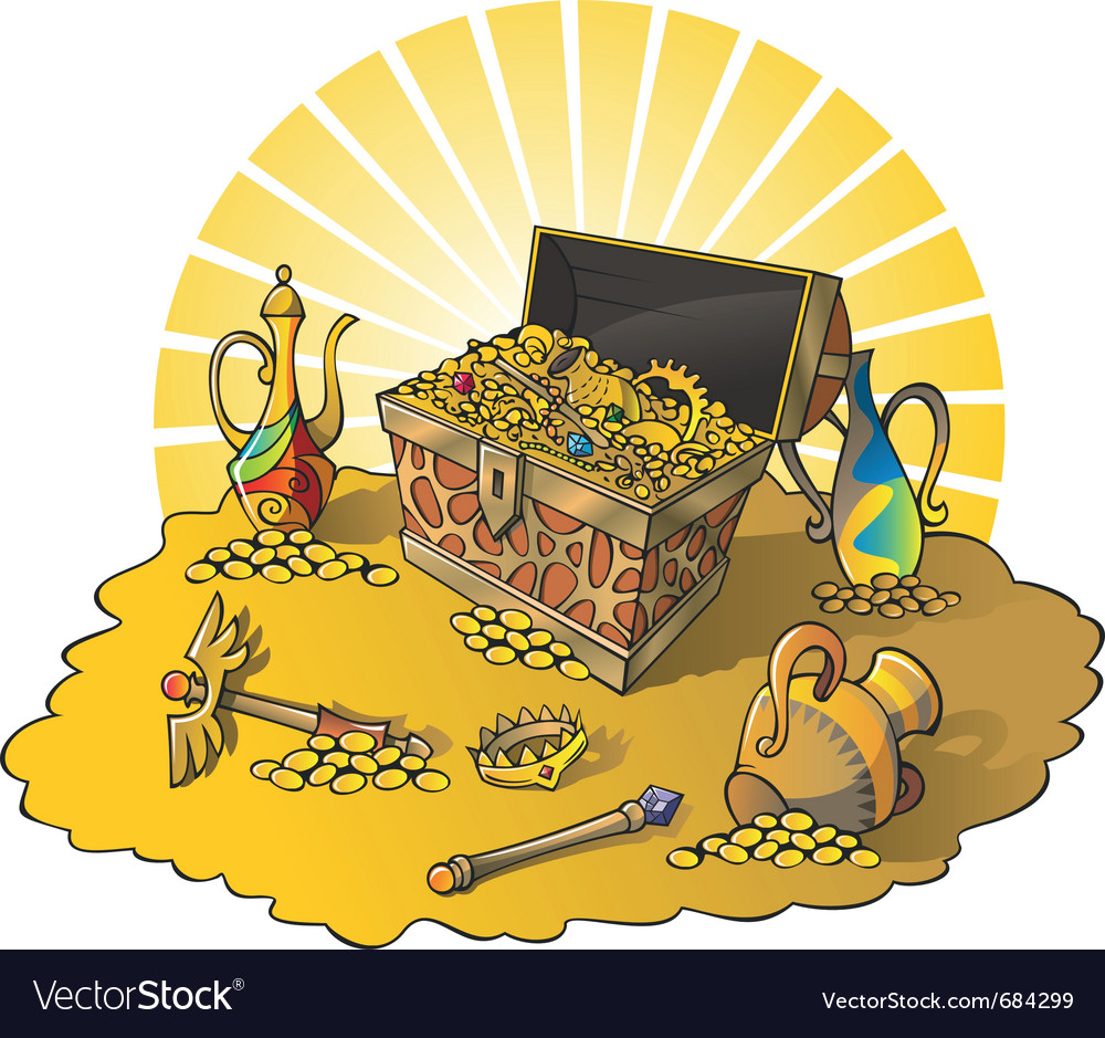 Treasures vector image