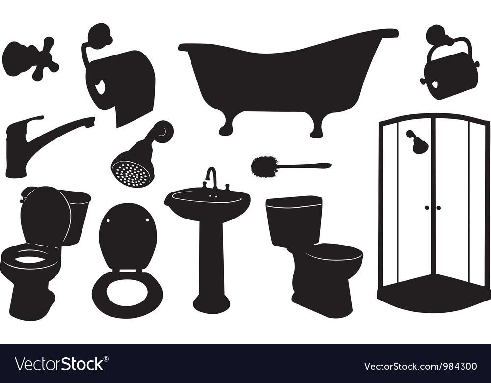 Bathroom set vector image