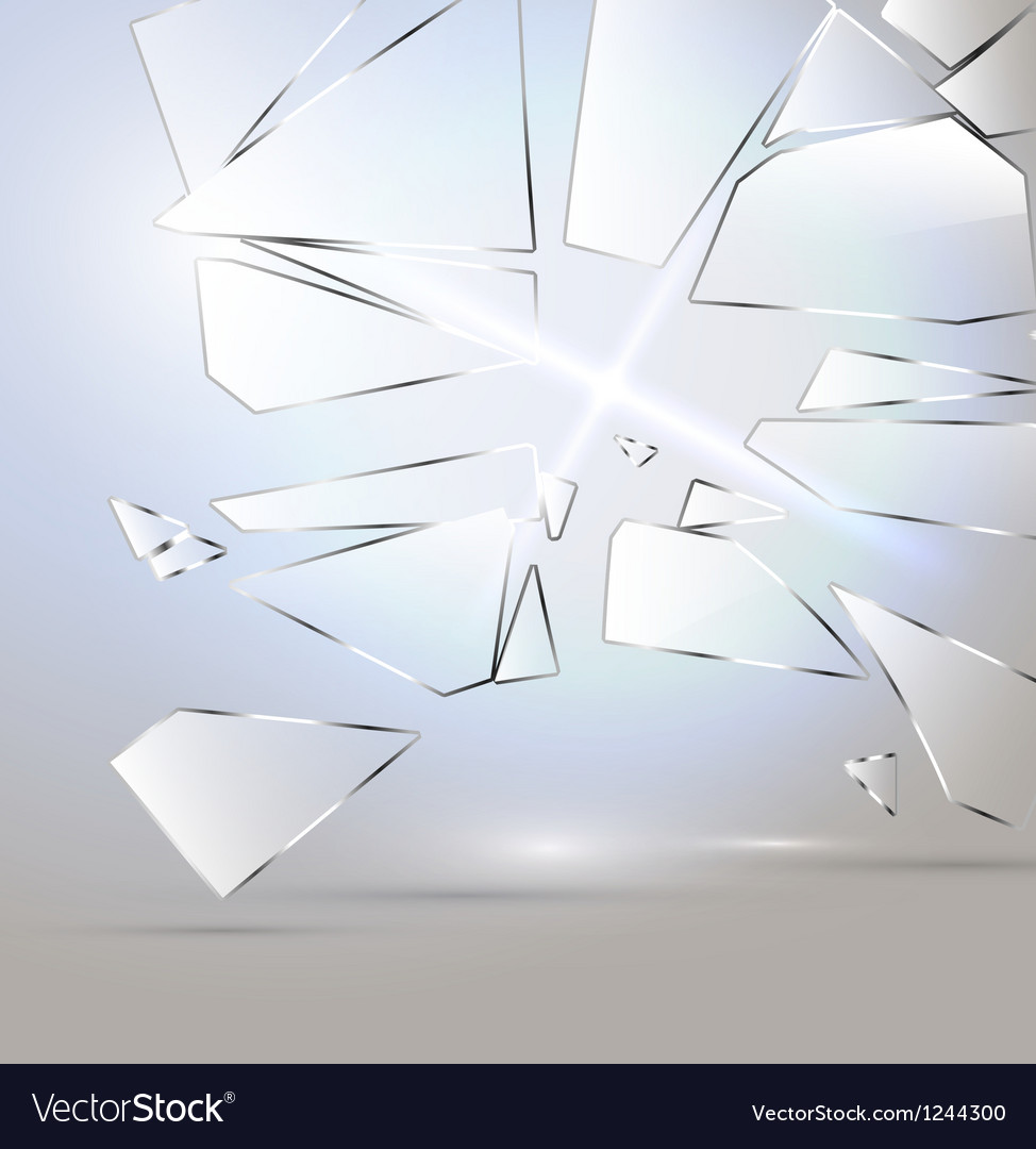 Broken glass desing vector image