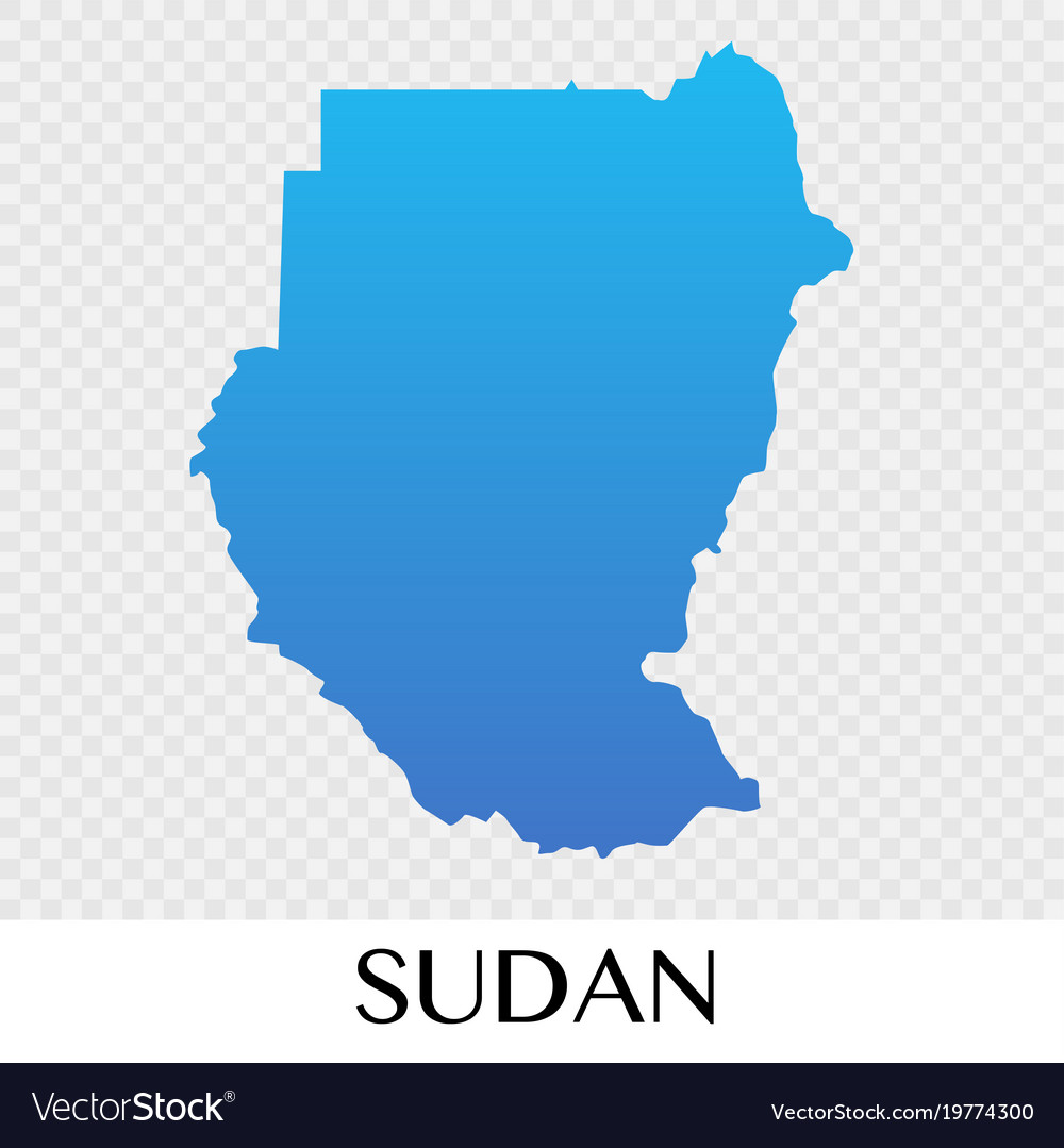 Sudan Map In Africa Continent Design Royalty Free Vector - What continent is sudan in