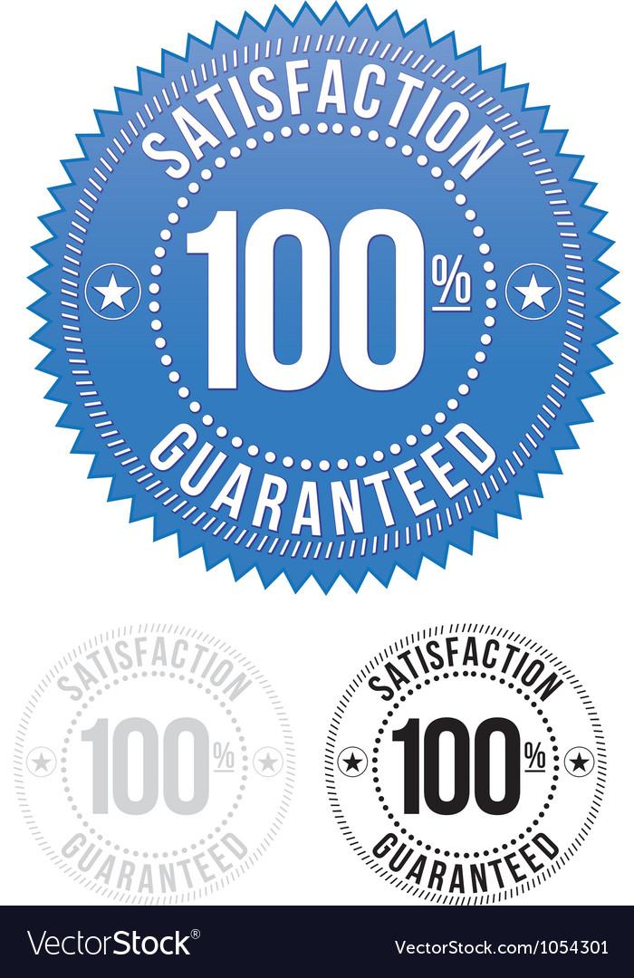 Satisfaction Guaranteed seals set vector image