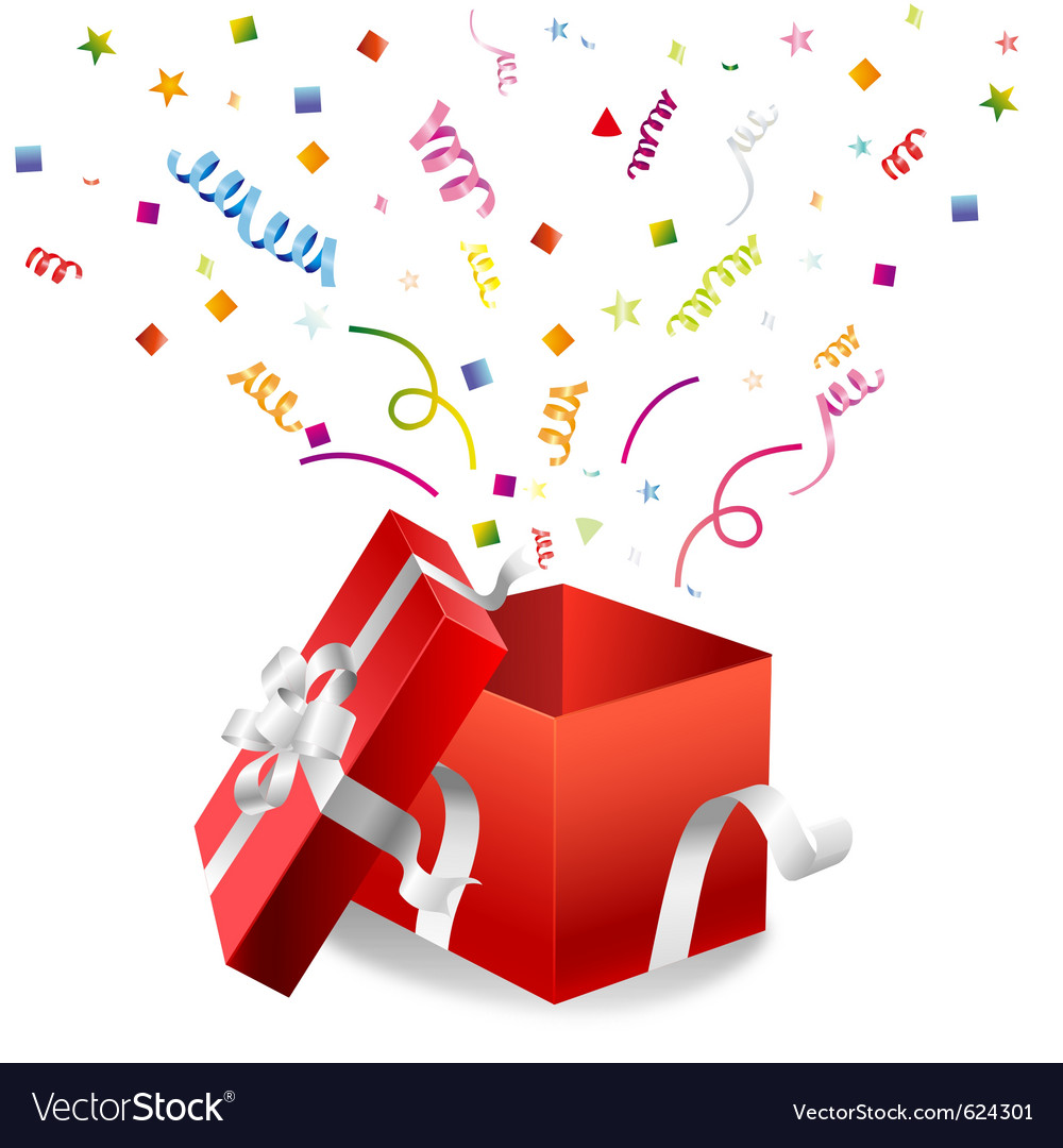 Open gift box royalty free vector image vectorstock open gift box vector image negle Gallery