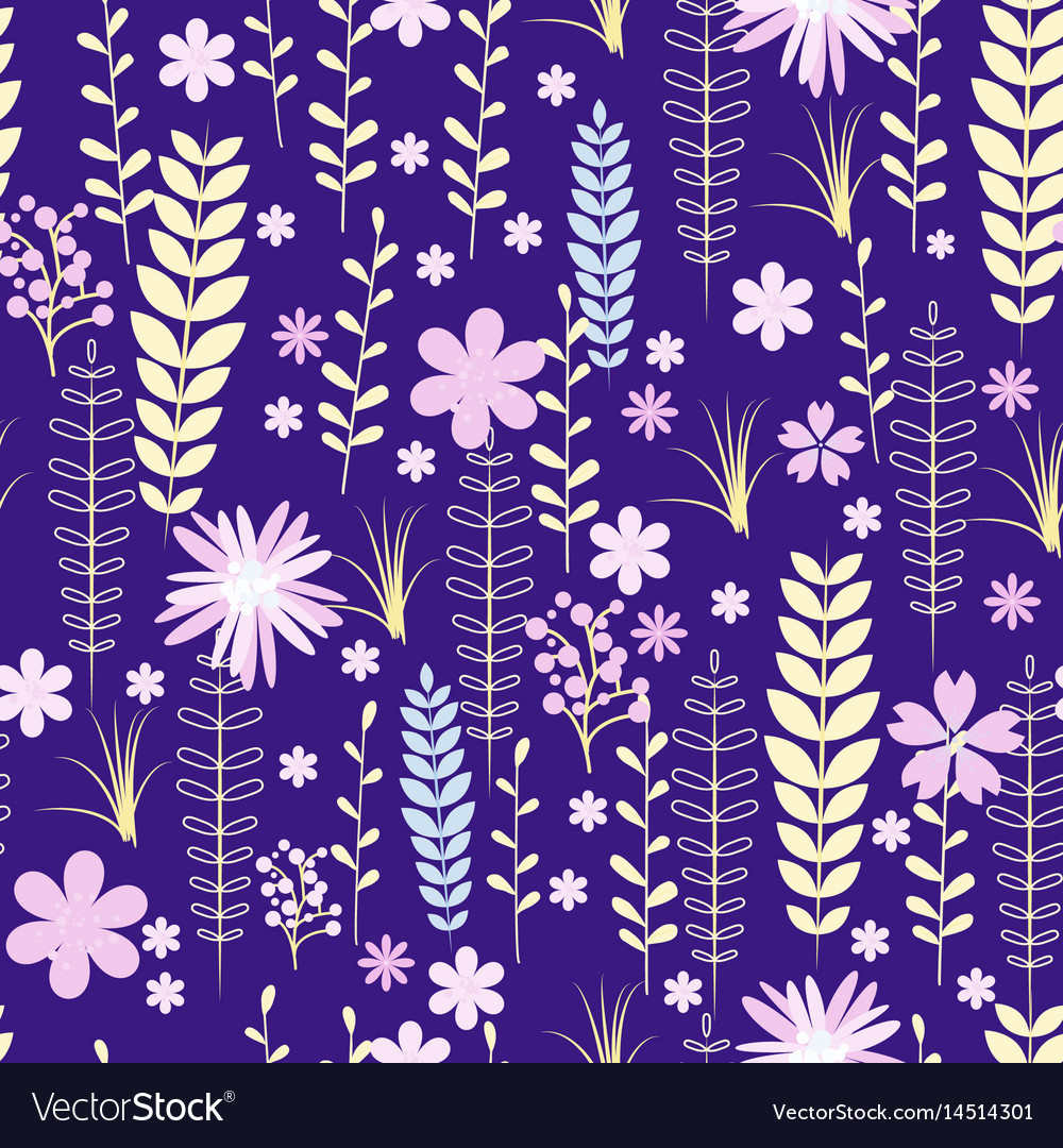 Vintage romantic trendy seamless pattern vector image