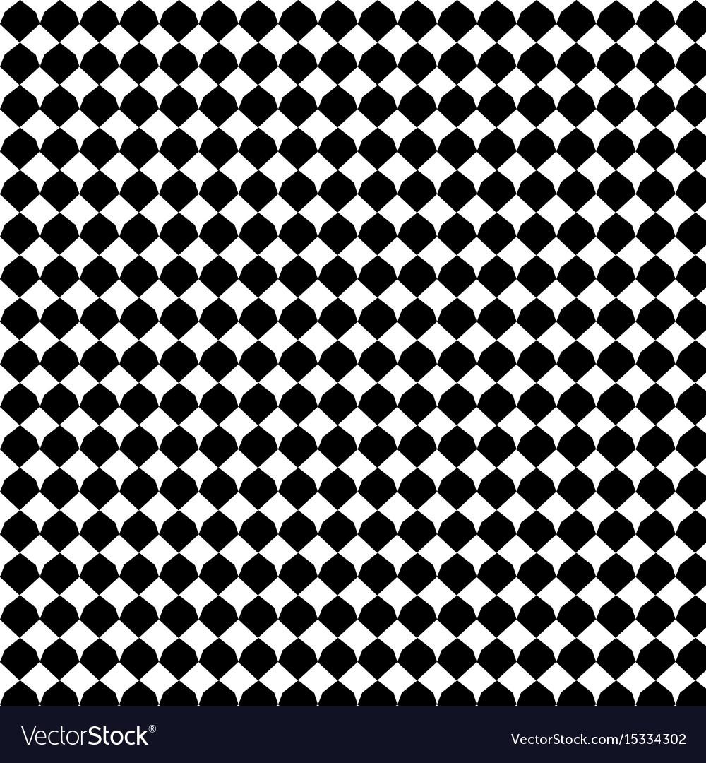Black geometric seamless pattern background vector image