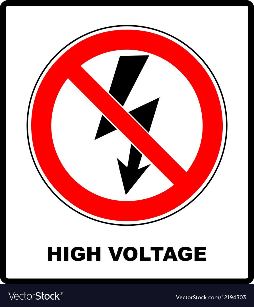 High voltage sign danger symbol black arrow vector image high voltage sign danger symbol black arrow vector image buycottarizona
