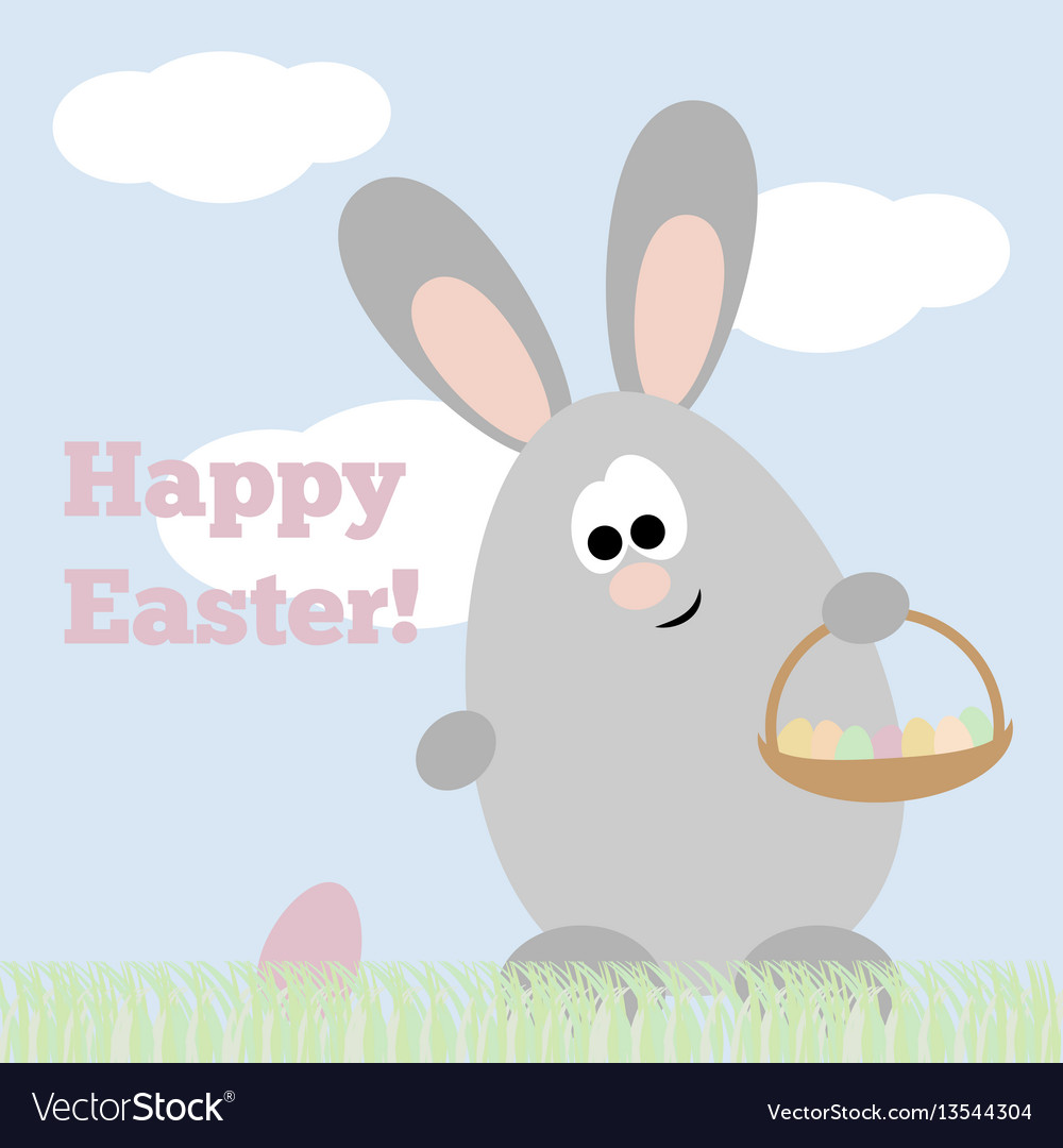 Card happy easter vector image