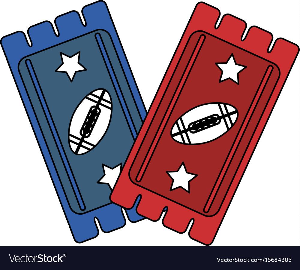 American football tickets design vector image