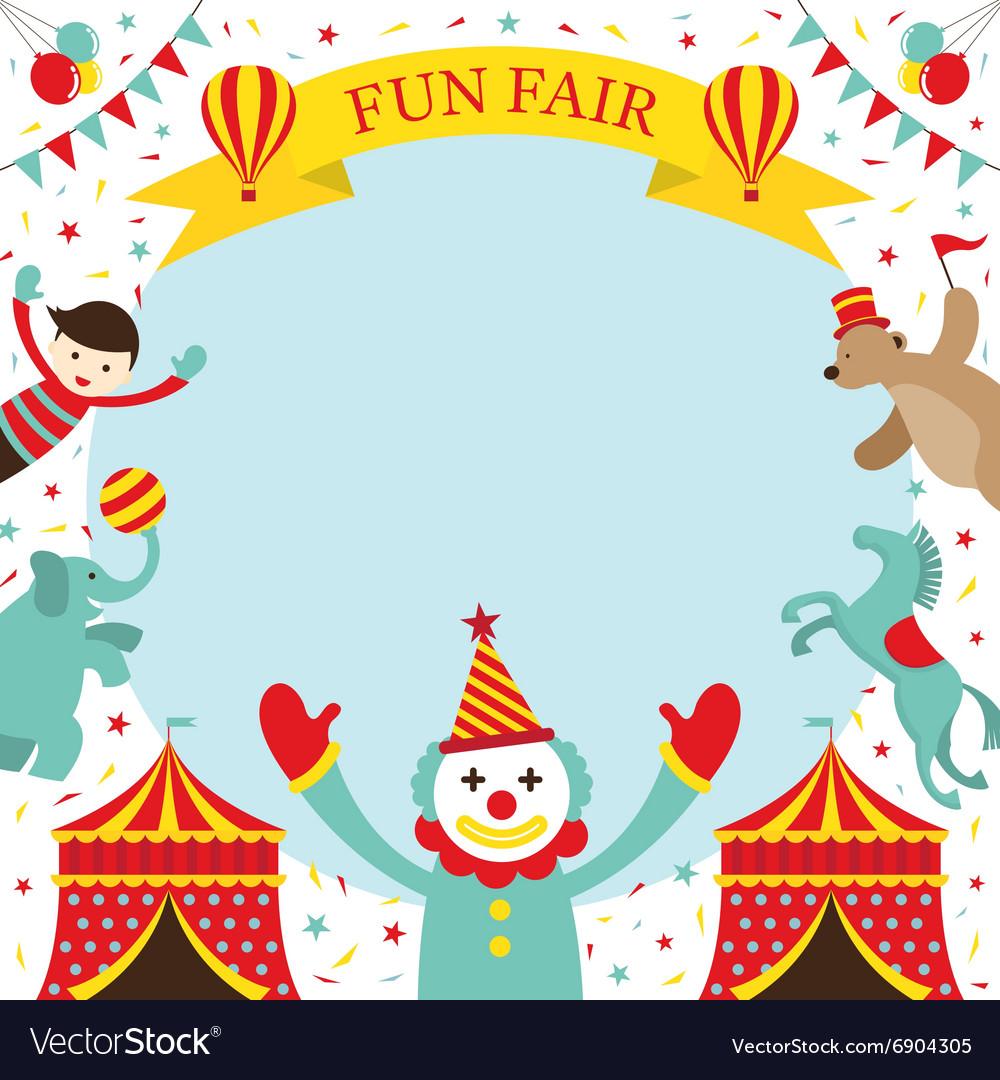 fun fair carnival circus frame royalty free vector image
