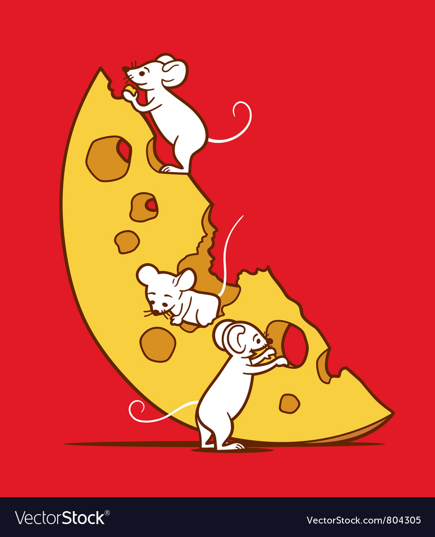 Mice And Cheese vector image
