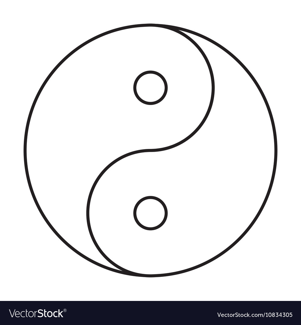 Yin yang symbol black outline royalty free vector image yin yang symbol black outline vector image buycottarizona Choice Image