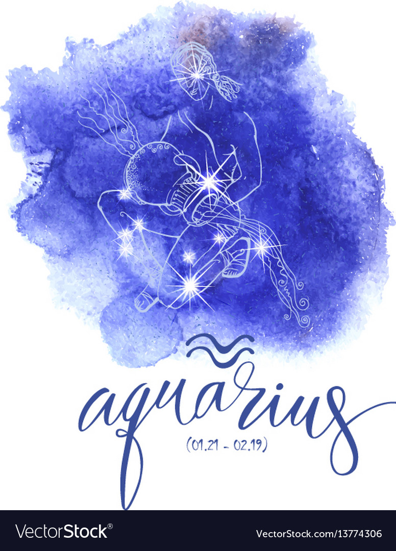 Astrology sign aguarius vector image
