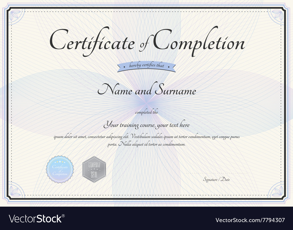 Certificate of training template free event invitation template certificate of completion template botany theme vector image certificate of completion template botany theme vector 7794307 yadclub Gallery