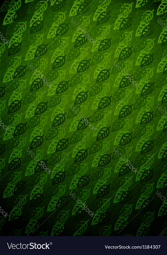 Summer leaves dark pattern vector image
