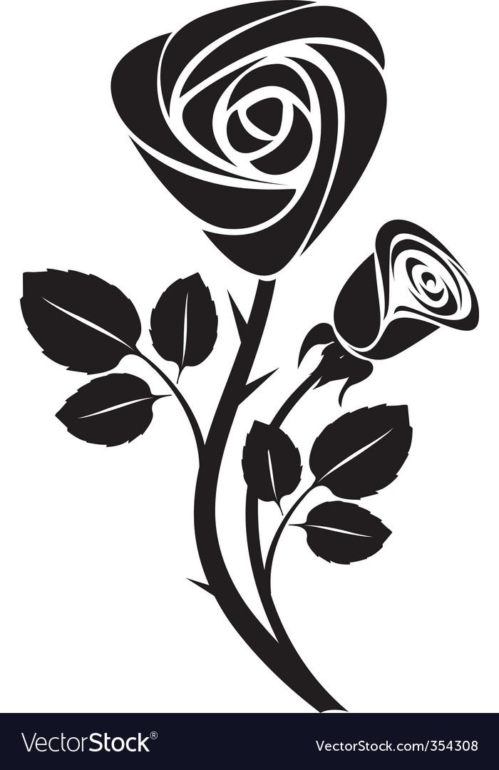 Rose design royalty free vector image vectorstock vector rose art illustration vector image voltagebd Choice Image