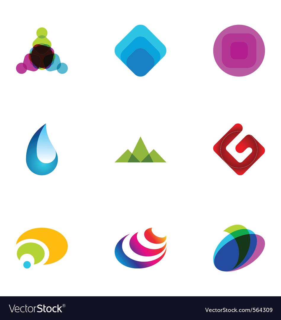 Logo design elements set 03 vector image