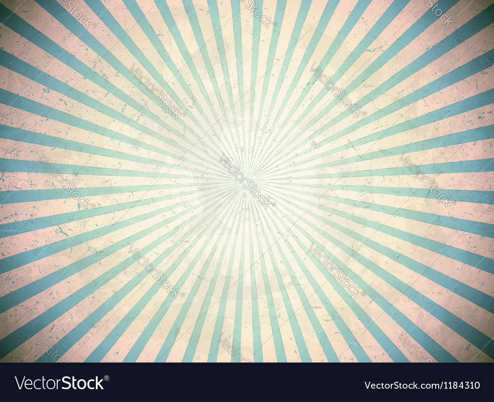 Blue vintage rays vector image