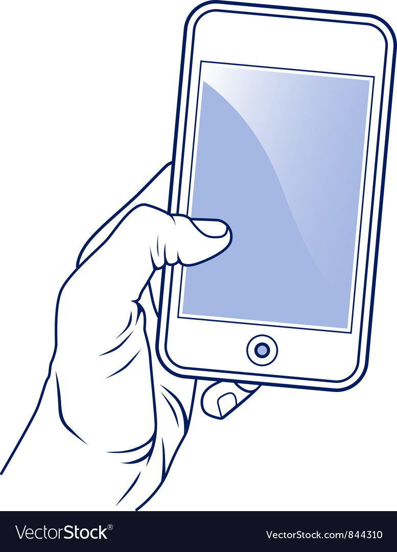 Mobile cellular phone vector image