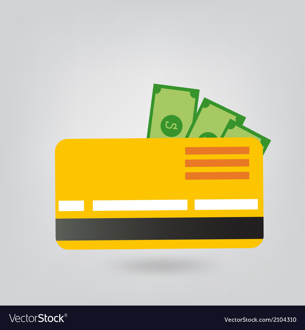 Payment card vector image