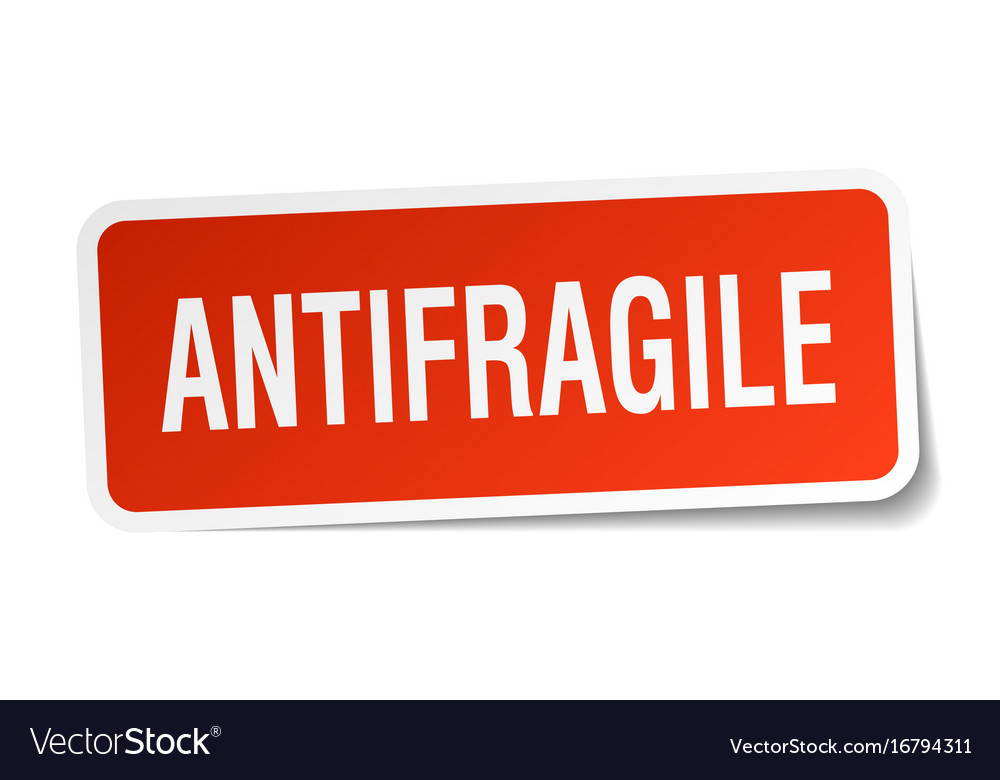 Antifragile square sticker on white vector image
