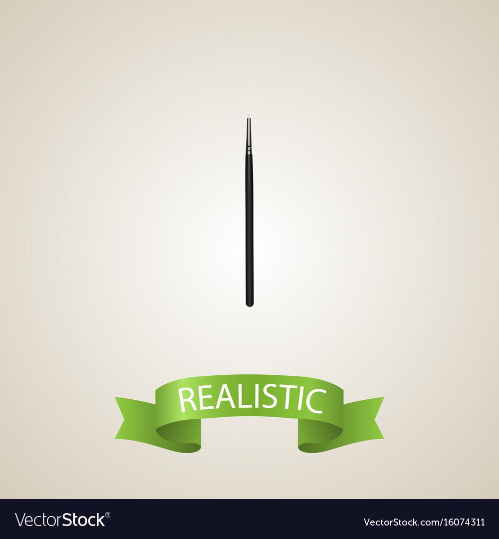 Realistic blending brush element vector image