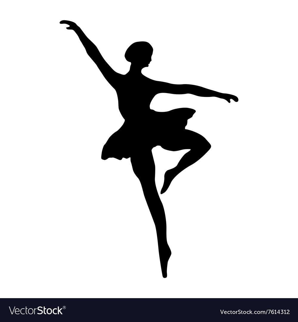 ballerina silhouette black royalty free vector image rh vectorstock com ballerina vector download ballerina vector art