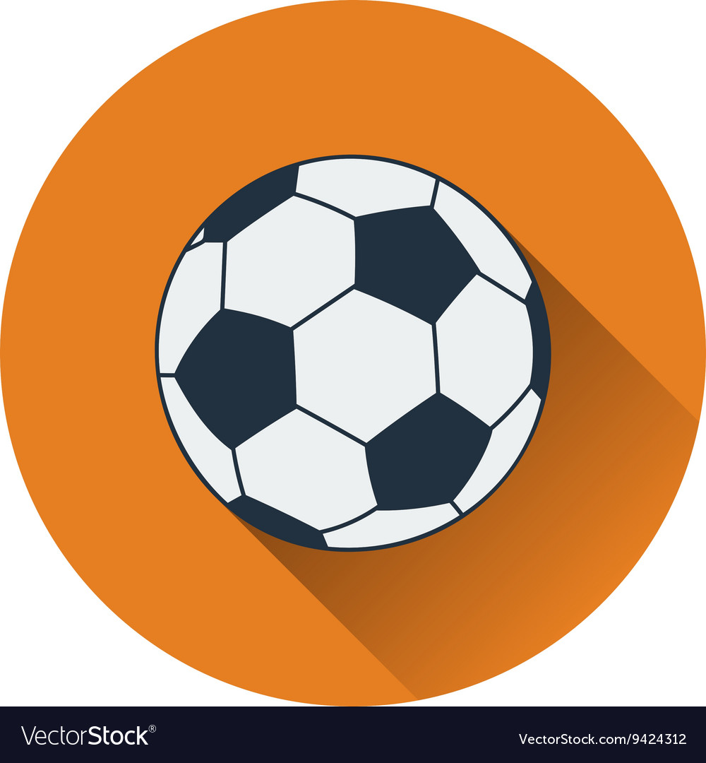 Icon of football ball vector image