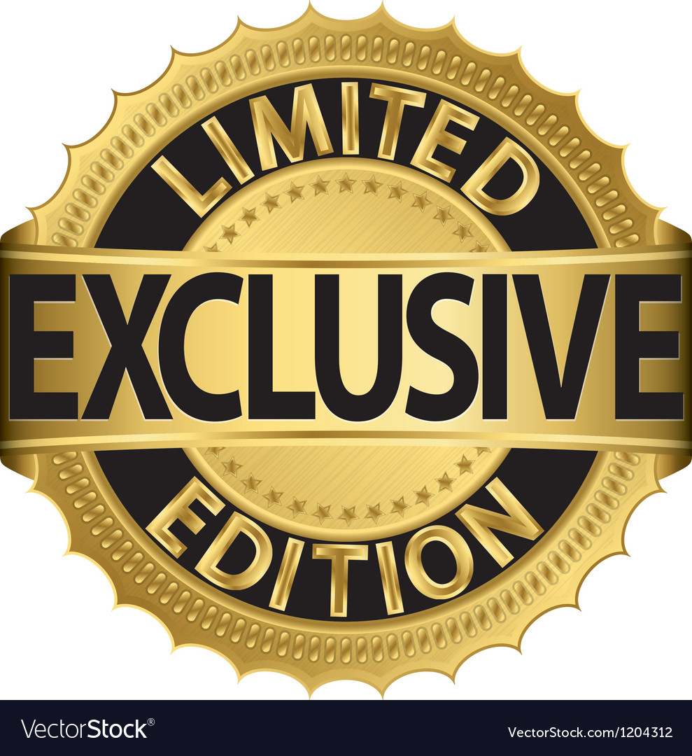 Limited edition exclusive golden label vector image