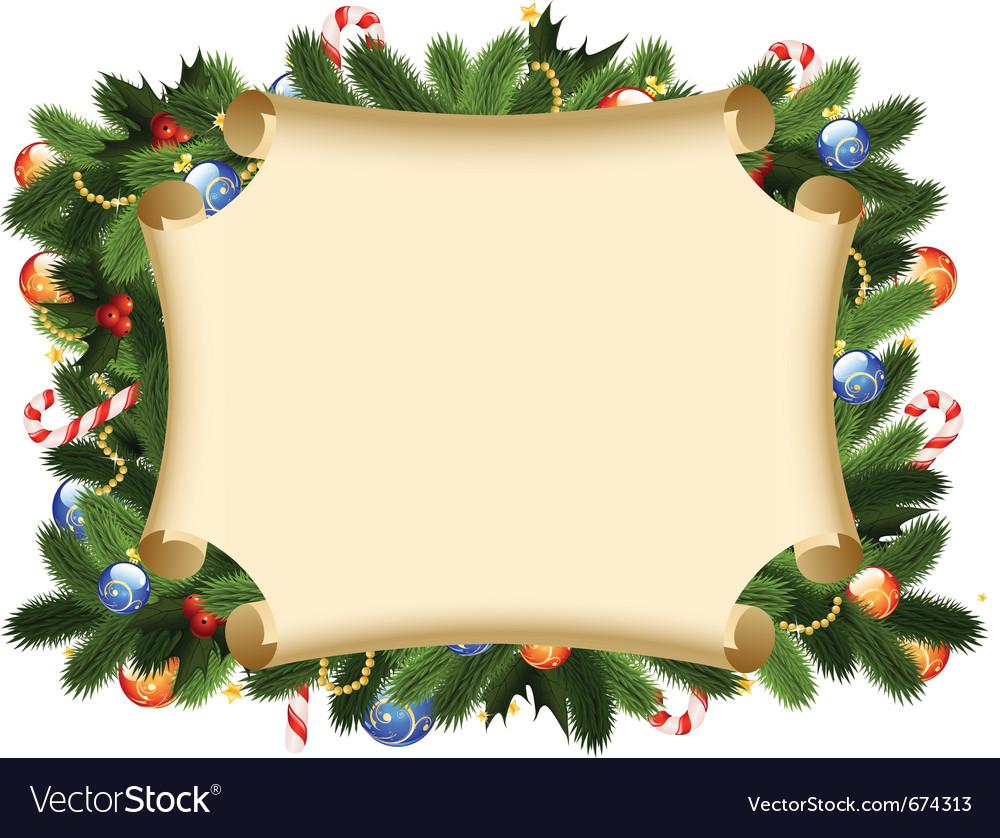 christmas card border royalty free vector image