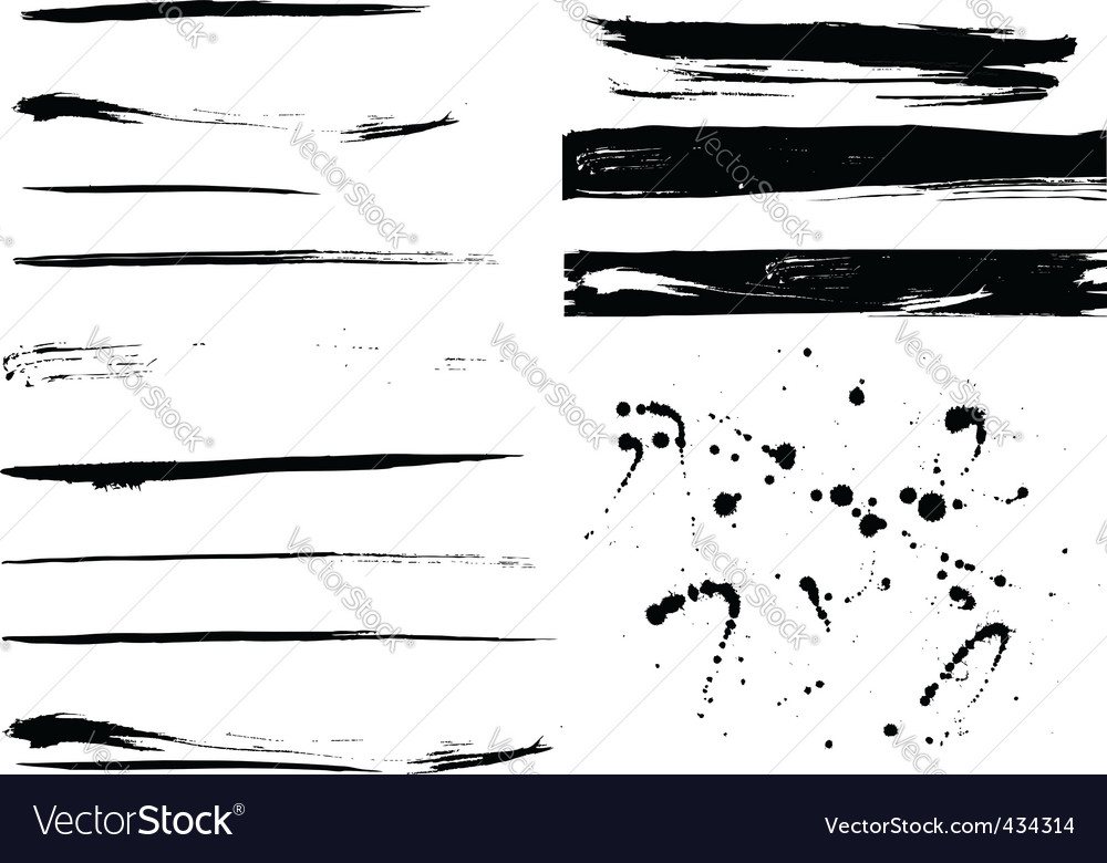 Grunge collection vector image