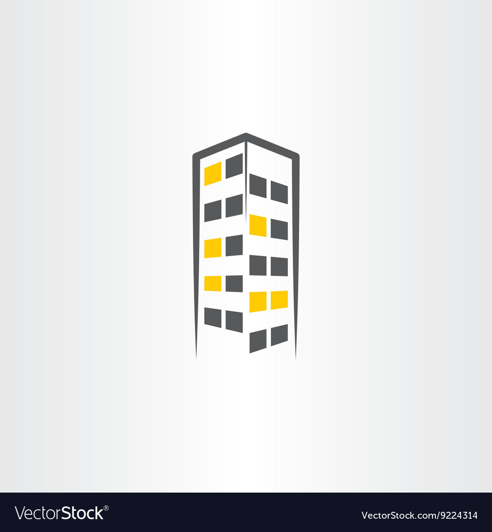 Building night icon symbol logo vector image