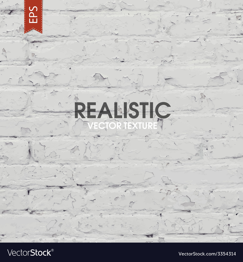 White brick wall texture vector image