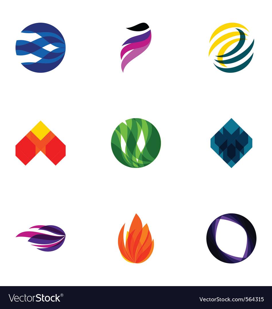 Logo design elements set 05 Vector Image
