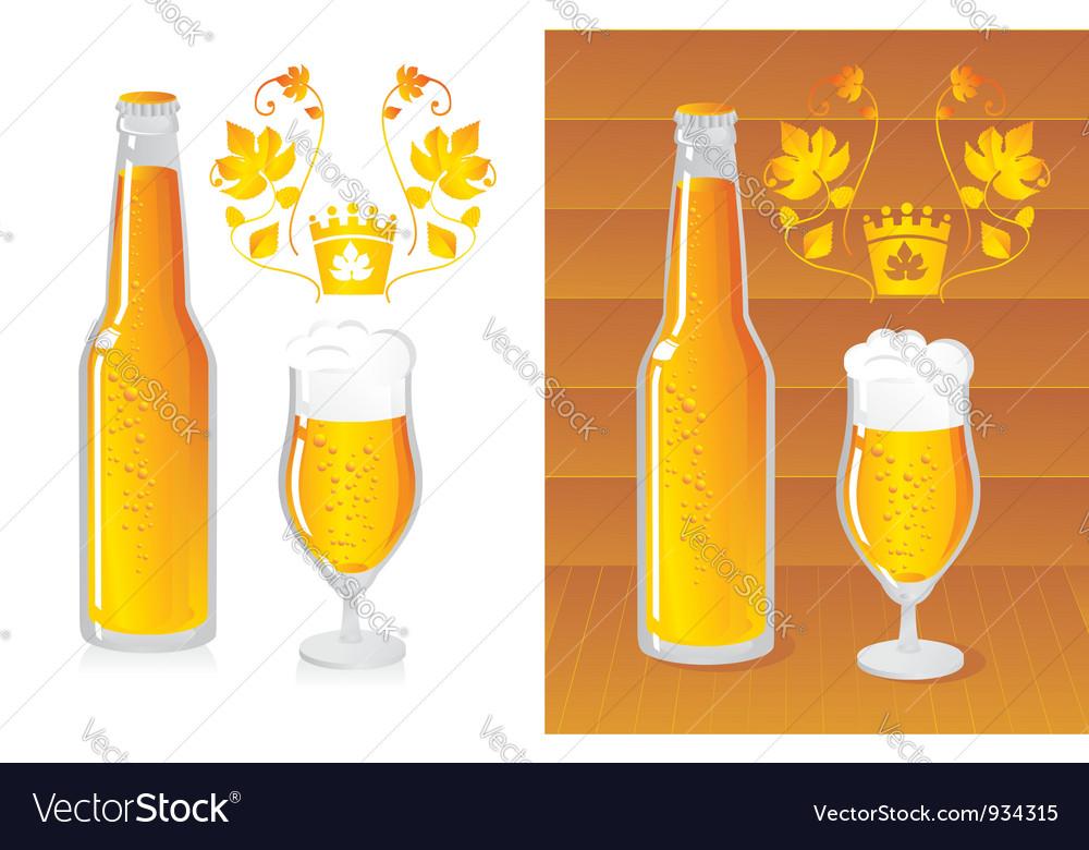 Bottled beer vector image
