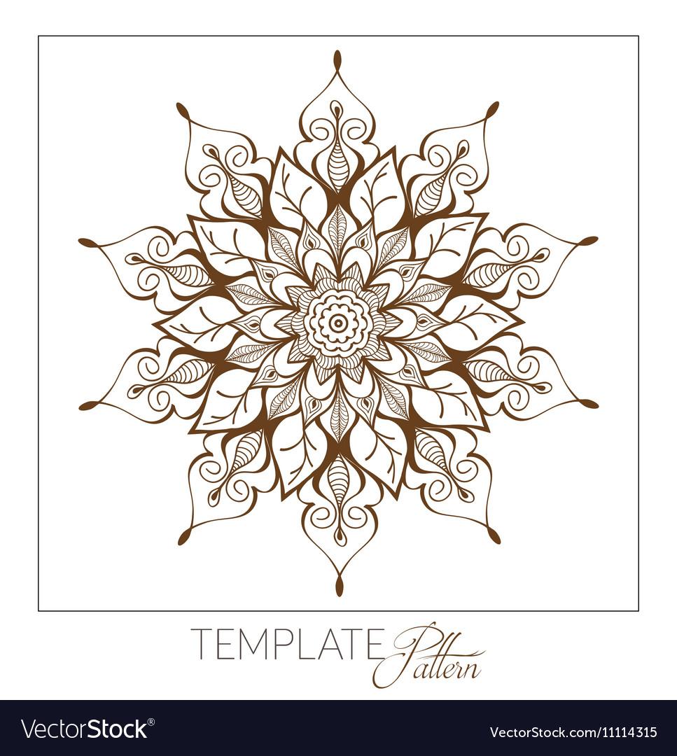 Decorative round ornament Vintage pattern vector image