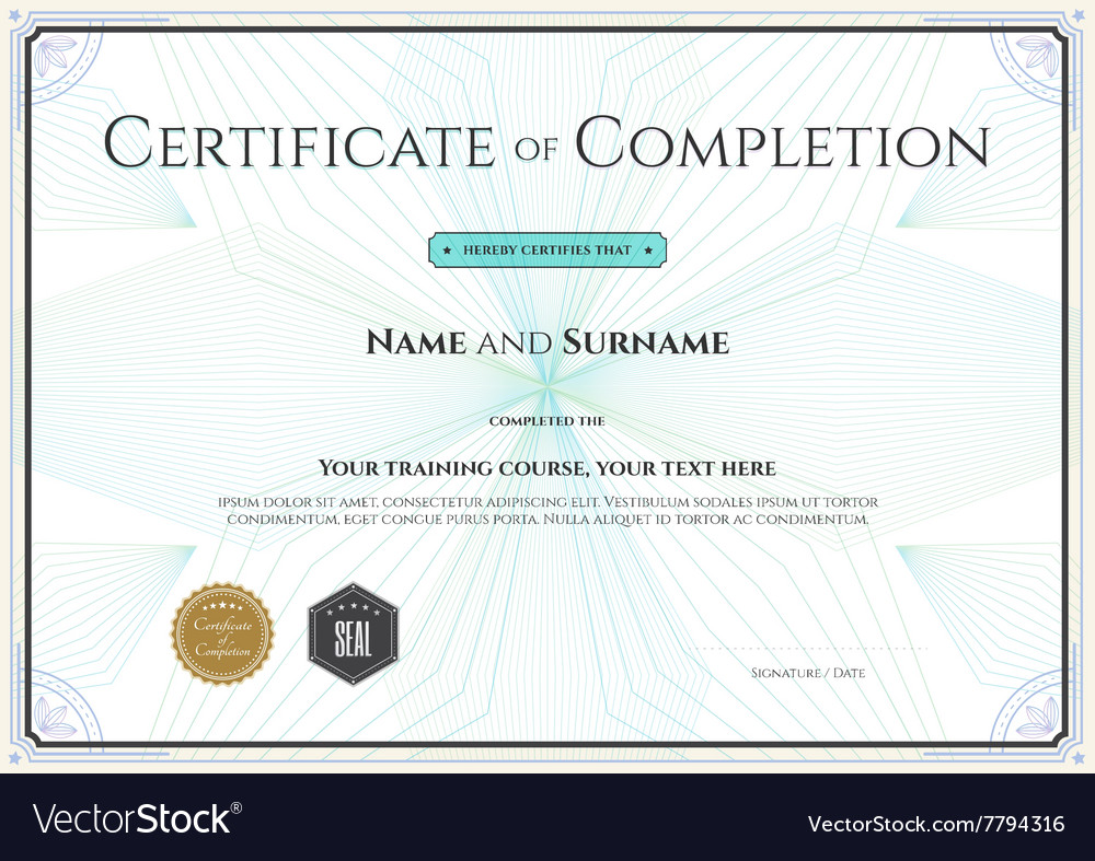 Certificate of completion template botany theme vector image certificate of completion template botany theme vector image alramifo Choice Image