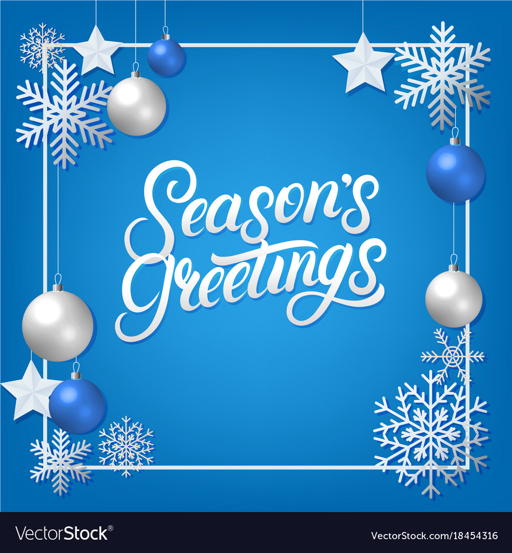 Seasons greeting hand written lettering royalty free vector seasons greeting hand written lettering vector image kristyandbryce Image collections