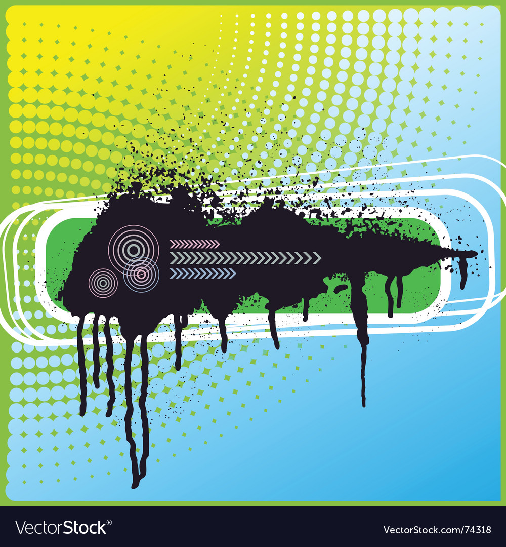 Blot ink vector image